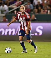 CARSON, CA – August 27, 2011: Chivas USA midfielder Simon Elliott (8) during the match between Chivas USA and Real Salt Lake at the Home Depot Center in Carson, California. Final score Chivas USA 0, Real Salt Lake 1.