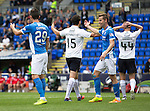 St Johnstone v Falkirk&hellip;23.07.16  McDiarmid Park, Perth. Betfred Cup<br />Luca Gasparotto appeals to Referee Bobby Madden after the second penalty<br />Picture by Graeme Hart.<br />Copyright Perthshire Picture Agency<br />Tel: 01738 623350  Mobile: 07990 594431