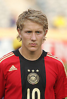 Germany's Lewis Holtby (10) stands on the field before the match against Brazil during the FIFA Under 20 World Cup Quarter-final match at the Cairo International Stadium in Cairo, Egypt, on October 10, 2009. Germany lost 2-1 in overtime play.