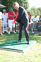 Donald Trump at the Alonzo Mourning &quot;ZO'S MILLION DOLLAR SHOOT-OUT&quot; charity event at the Trump National Golf Club in Westchester, NY<br /> August 21, 2006<br /> Credit:  Walik Goshorn/MediaPunch