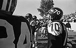 &copy;2013 David Burnett/Contact Press Images<br /> 703 626 1696<br /> 1965 Colorado College Football<br /> Steve Sabol (#34)<br /> Colorado Springs, CO<br /> CC vs Colorado School of Mines<br /> October, 1965