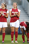22 November 2013: Arkansas' Yvonne DesJarlais (15). The University of Arkansas Razorbacks played the Saint John's University Red Storm at Koskinen Stadium in Durham, NC in a 2013 NCAA Division I Women's Soccer Tournament Second Round match. Arkansas won the game 1-0.