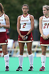 30 September 2016: Boston College's Chelcie Mendonca (CAN). The Duke University Blue Devils hosted the Boston College Eagles at Jack Katz Stadium in Durham, North Carolina in a 2016 NCAA Division I Field Hockey match. Duke won the game 6-2.