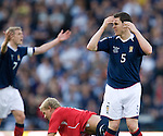 Gary Caldwell and Steven Fletcher dejection