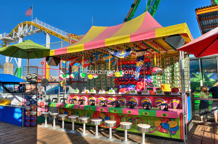 Santa Monica CA Pier, Amusements Pacific Park, California