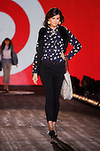Young female model on the catwalk for Target's fall preview fashion show