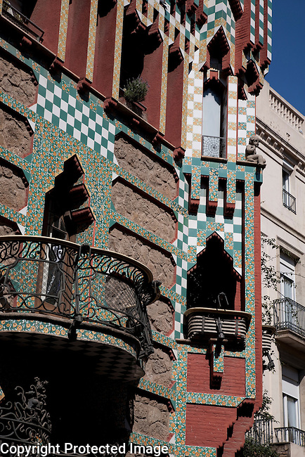 Vicenc House by Gaudi in Barcelona, Catalonia, Spain