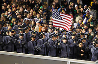 The Army cheering section at the Notre Dame vs. Army football game held at Yankee Stadium on Saturday, November 20, 2010. Photo by Errol Anderson