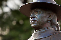 Stevie Ray Vaughan SRV Memorial Statue on Bird Lake Town Austin - Stock Photo Images Gallery