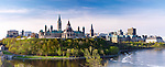 Panoramic view of The Parliament Hill in Ottawa, Ontario, Canada springtime scenic May 2012
