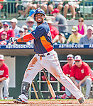 20 March 2015: Houston Astros infielder Luis Valbuena in Spring Training action against the Washington Nationals at Osceola County Stadium in Kissimmee, Florida. The Astros fell to the Nationals 7-5 in Grapefruit League play. Mandatory Credit: Ed Wolfstein Photo *** RAW (NEF) Image File Available ***