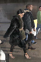 JAN 23 Kim Kardashian and Kanye West Arrive in Dulles International Airport