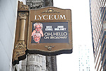 'Oh, Hello on Broadway' - Theatre Marquee