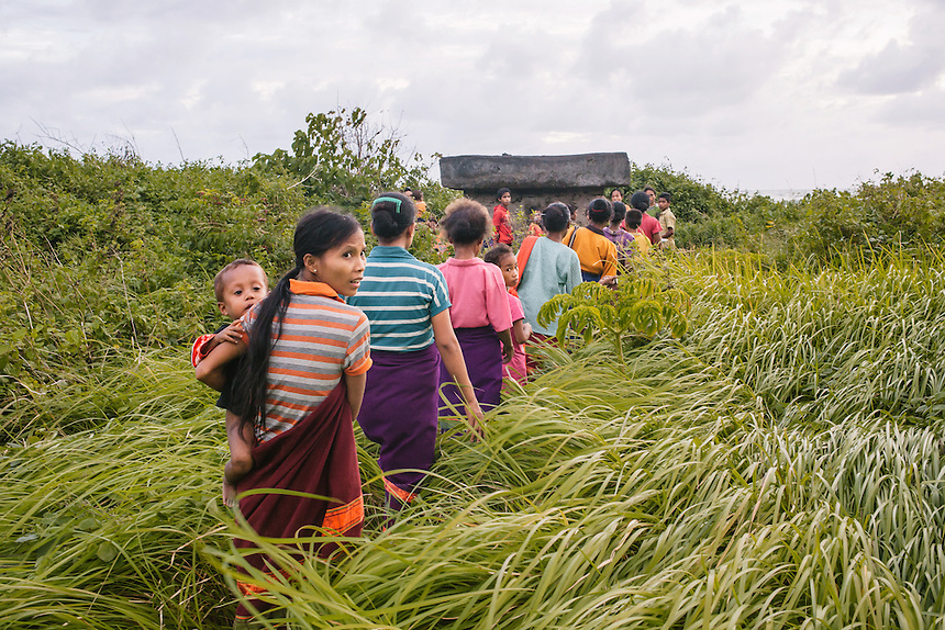 The villagers march around old megalith tombs in the village of Wainyapu, Kodi, to do a ritual for the ancestors before the Pasola begun. For many of the the Sumbanese, who still believe in the ancient animism called Marapu, the day around Pasola is considered holy. And many of them came from faraway village in Sumba to watch Pasola. Pasola is an ancient tradition from the Indonesian island of Sumba. Categorized as both extreme traditional sport and ritual, Pasola is an annual mock horse warfare performed in response to the harvesting season. In the battelfield, the Pasola warriors use blunt spears as their weapon. However, fatal accident still do occurs.