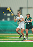 21 April 2012: University of Vermont Catamount midfielder Adison Rounds, a Senior from Centennial, CO, in action against the Binghamton University Bearcats at Virtue Field in Burlington, Vermont. The Lady cats defeated the visiting Lady Bearcats 12-7. Mandatory Credit: Ed Wolfstein Photo