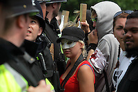 Anti-fascist protestors clash with Police in Cardiff, UK, 5/6/10