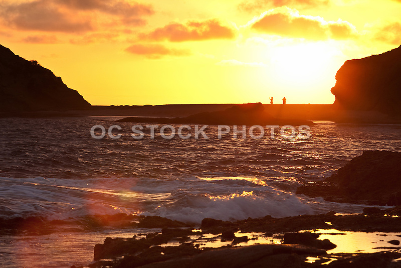 Landscape Boulders Orange County Ca : People walking at sunset in laguna beach cmf g socal stock photos oc