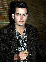 Charlie Sheen 1987 NYC By Jonathan Green