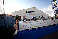 Press Conference at the end of day 2 at Match Race Germany. World Match Racing Tour. Langenargen, Germany. 21 May 2010.