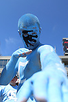 07 September 2013: UNC fan. The University of North Carolina Tar Heels played the Middle Tennesse State University Blue Raiders at Keenan Stadium in Chapel Hill, NC in a 2013 NCAA Division I Football game.