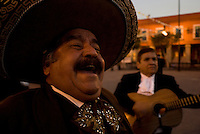 Ismael Gutierrez and his Mariachi band preform in Plaza Garibaldi where Mariachis gather to be hired in Mexico City, Friday, Jan. 4, 2008
