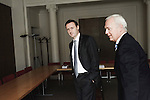PARIS, FRANCE. NOVEMBER 2, 2010. Pierre Raoul-Duval and Christophe Eck, respectively Senior Partner and Managing Director at Gide Loyrette Nouel, a law firm. (photo: Antoine Doyen)