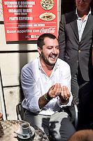 Roma 15 Settembre 2015<br /> Manifestazione davanti al Ministero dell'Economia  dei lavoratori &quot;Esodati&quot;, i lavoratori  che hanno perso occupazione e pensione con la legge del ministro del Lavoro Elsa Fornero, durante il Governo Monti. Sono 50 mila lavoratori senza stipendio e senza pensione dopo la riforma Fornero. Matteo Salvini, segretario della Lega Nord, partecipa alla manifestazione degli esodati.<br /> Rome September 15, 2015<br /> Rally outside the Ministry of Economy of workers &quot;esodati&quot;, workers who have lost jobs and retirement  with the law of the Minister of Labour Elsa Fornero, during the government Monti. Are 50,000 workers without pay and no pension after the reform Fornero. Matteo Salvini, secretary of the Northern League, participated in the demonstration of esodati.