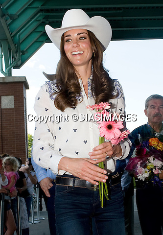 "PRINCE WILLIAM & KATE CANADA.watch a rodeo display and attend reception at the BMO Centre, Calgary_07/07/2011.Mandatory Credit Photo: ©DIASIMAGES. .**ALL FEES PAYABLE TO: ""NEWSPIX INTERNATIONAL""**..No UK Usage until 03/08/2011.IMMEDIATE CONFIRMATION OF USAGE REQUIRED:.DiasImages, 31a Chinnery Hill, Bishop's Stortford, ENGLAND CM23 3PS.Tel:+441279 324672  ; Fax: +441279656877.Mobile:  07775681153.e-mail: info@newspixinternational.co.uk"