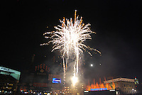 Post game fireworks at Comerica Park in Detroit, MI... home of the Detroit Tigers.
