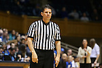 17 January 2016: Referee Frank Steratore. The Duke University Blue Devils hosted the Boston College Eagles at Cameron Indoor Stadium in Durham, North Carolina in a 2015-16 NCAA Division I Women's Basketball game. Duke won the game 71-51.