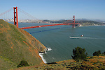 San Francisco Bay and Golden Gate Bridge from Marin Headlands