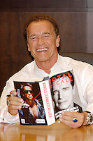 Arnold Schwarzenegger signs his memoirs TOTAL RECALL - Los Angeles