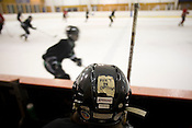 The North Carolina Trailblazers women's hockey team during a game against a men's team at the Ice House in Garner.