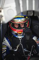 May 20, 2011; Topeka, KS, USA: NHRA funny car driver Jack Beckman during qualifying for the Summer Nationals at Heartland Park Topeka. Mandatory Credit: Mark J. Rebilas-