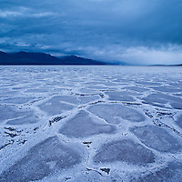Rain clouds over Badwater basin, Death Valley national park, California