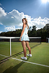 Tennis Star Jelena Jankovic photographed at the Sony Ericsson for British GQ