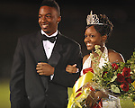 Senior maid Mykira Buford, escorted by Demetrious Bogard, was announced as homecoming queen at Lafayette High vs. Lewisburg in Homecoming football action in Oxford, Miss. on Friday, September 30, 2011.