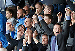 St Johnstone v Dundee United...26.09.15  SPFL   McDiarmid Park, Perth<br /> Alan Mannus shows no reaction as the final whistle goes and siants fans celebrate around him<br /> Picture by Graeme Hart.<br /> Copyright Perthshire Picture Agency<br /> Tel: 01738 623350  Mobile: 07990 594431