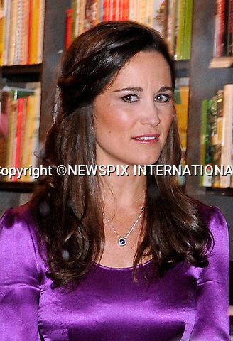 """Haarlem, Holland; 11-12-2-12: PIPPPA MIDDLETON.""""In Purple"""" at the launch of the Dutch edition of her book """"Celebrate"""" at H. de Vries Boeken, Haarlem, Netherlands. The part book by the sister of Kate Middleton appears to have bombed elsewhere and are hitting the bargain bins..Mandatory Credit Photo: ©NEWSPIX INTERNATIONAL..**ALL FEES PAYABLE TO: """"NEWSPIX INTERNATIONAL""""**..IMMEDIATE CONFIRMATION OF USAGE REQUIRED:.Newspix International, 31 Chinnery Hill, Bishop's Stortford, ENGLAND CM23 3PS.Tel:+441279 324672  ; Fax: +441279656877.Mobile:  07775681153.e-mail: info@newspixinternational.co.uk"""