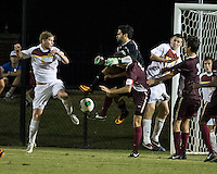 The Winthrop University Eagles played the College of Charleston Cougars at Eagles Field in Rock Hill, SC.  College of Charleston broke the 1-1 tie with a goal in the 88th minute to win 2-1.  Magnus Thorsson (8), Guilherme Avelar (31), Kyle Kennedy (19), Tam McGowan (2), Tucker Coons (3)