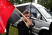 RAWA MAZOWIECKA, POLAND, JUNE 14, 2010:.Supporters of Jaroslaw Kaczynski on the campaign trail in Rawa Mazowiecka..(Photo by Piotr Malecki / Napo Images)..RAWA MAZOWIECKA, 14/06/2010:.Zwolennicy Jaroslawa Kaczynskiego. Spotkanie z wyborcami..Fot: Piotr Malecki / Napo Images.