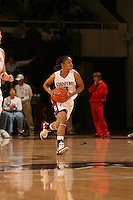 25 February 2006: Markisha Coleman during Stanford's 78-47 win over the Washington State Cougars at Maples Pavilion in Stanford, CA.
