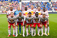 New York Red Bulls starting eleven. The New York Red Bulls defeated the Chicago Fire 5-2 during a Major League Soccer (MLS) match at Red Bull Arena in Harrison, NJ, on October 27, 2013.