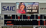 4 March 2012: The Washington Nationals honored the memory of Hall of Fame catcher Gary Carter with a moment of silence prior to a game against the Houston Astros at Space Coast Stadium in Viera, Florida. The Astros defeated the Nationals 10-2 in Grapefruit League action. Mandatory Credit: Ed Wolfstein Photo