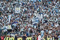 Roma 26/05/2013: Finale coppa Italia di Calcio tra Roma e Lazio. Coppa vinta dalla formazione della Lazio per 1 a 0 gola di Lulic. Nella foto Hernanes saluta la curva nord.Foto Adamo Di Loreto/Buenavista*photo