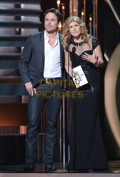 NASHVILLE, TENNESSE - NOVEMBER 06: Chip Esten, Charles Esten, Connie Britton at the 47th CMA Awards, Country Music's Biggest Night, held at Bridgestone Arena on November 6th, 2013 in Nashville, Tennessee, USA.<br /> CAP/ADM/LF<br /> &copy;Laura Farr/AdMedia/Capital Pictures