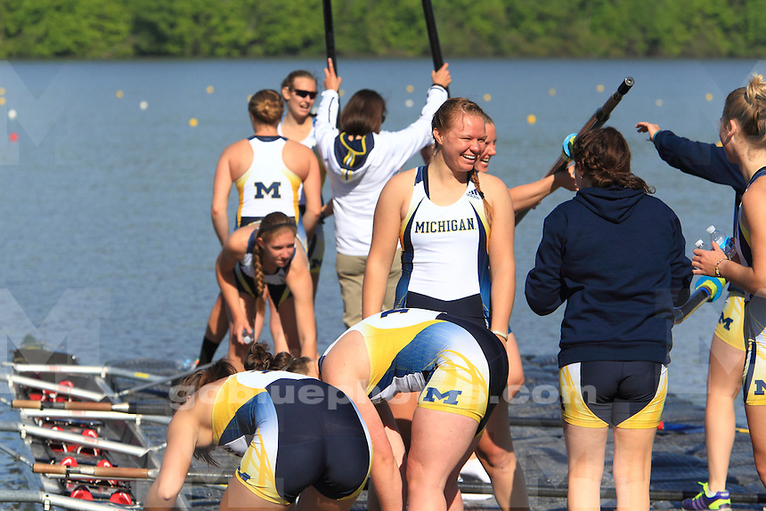 The University of Michigan Rowing team took 2nd place at the 2014 Big Ten Rowing Championships in Indianapolis, IN