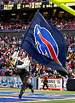 24 December 2006: Buffalo Bills flag is run in the end zone after a score against the Tennessee Titans at Ralph Wilson Stadium in Orchard Park, New York. The Titans edged out the Bills 30-29.&amp;#xA; &amp;#xA;Mandatory Photo Credit: Ed Wolfstein Photo<br />