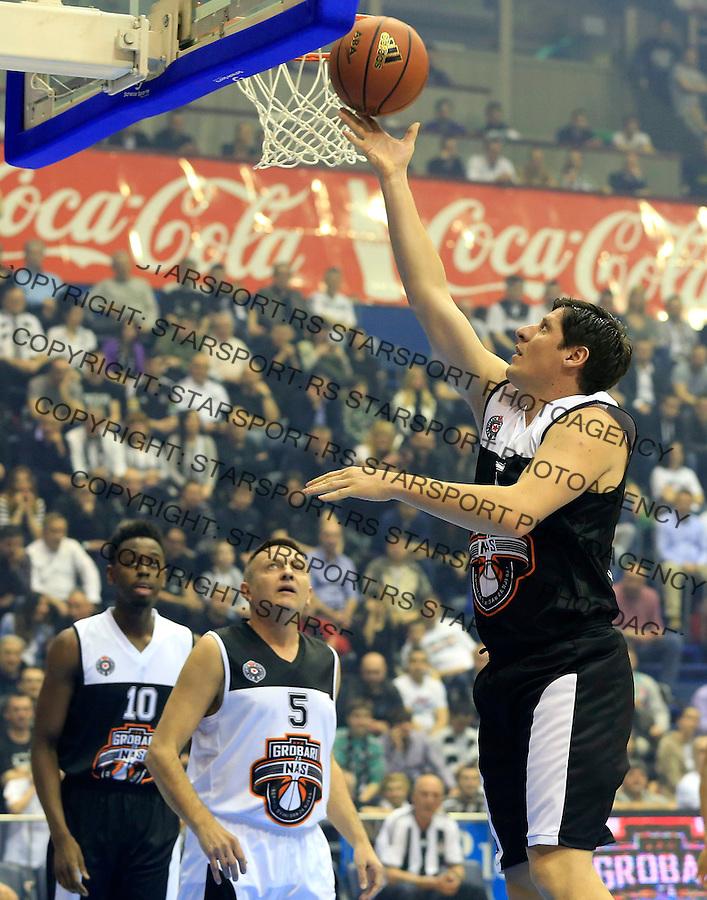 Kosarka season 2014-2015<br /> Partizan-Grobari za nas-Revijalni Mec<br /> Veselin Petrovic (R) Nebojsa Zorkic<br /> Beograd, 11.03.2015.<br /> foto: Srdjan Stevanovic/Starsportphoto&copy;