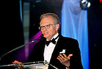 Larry King speaks. The Larry King Cardiac Foundation  Gala. Professional Image Photography by John Drew
